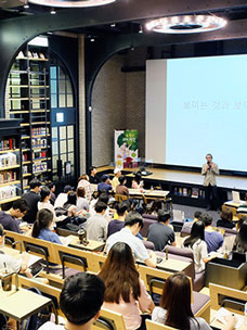 Cinema joins hands with youth! Cinema class for university students - CGV Cinema Class in Cine Library of CGV Myeongdong Station