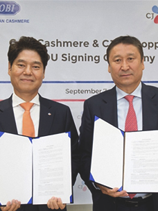 CJOShopping Signs MOU with GOBI, Cashmere Provider