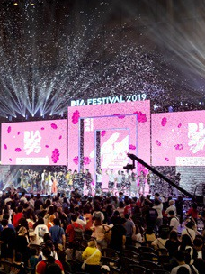 "Famous creators are giving a finale performance at DIA Festival 2019 in Busan, held at BEXCO (Busan Exhibition and Convention Center) from August 9 to 11 by CJ ENM''s one-person creator team support project ""DIA TV"""