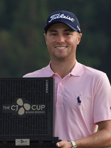 2019 THE CJ CUP winner Justin Thomas