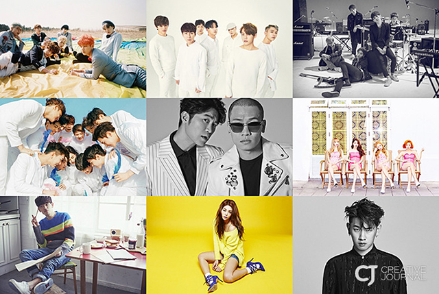 featuring top K-Pop artists such as Dynamic Duo, MAMAMOO, BTS, BtoB, SEVENTEEN, Eric Nam, Ailee, Crush and DAY6.
