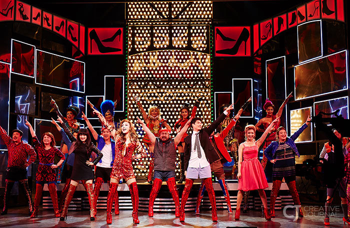 Say, Kinky Boots! Just fall into the 'red' moment