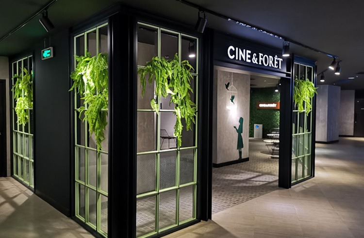 Entrance to the CINE & FORÊT lounge at CGV Vincom Star City D Capitale located in Hanoi, Vietnam