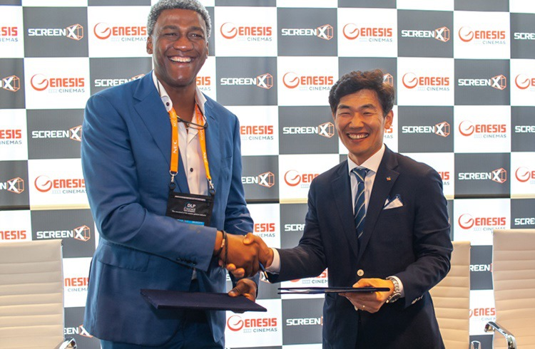 (From left) Dr. Nnaeto Orazulike, CEO of Genesis Group Nigeria and Jong-yeol Kim, head of Technology Innovation Division at CJ CGV