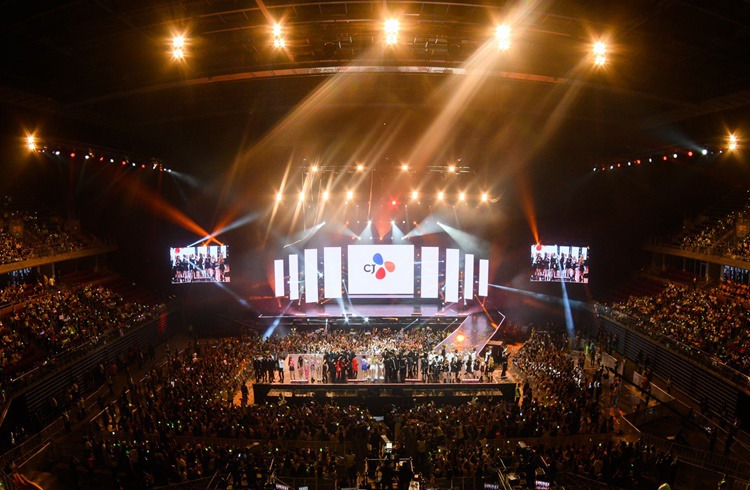 A panorama of KCON concert stage